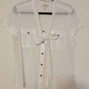 Land's End white blouse
